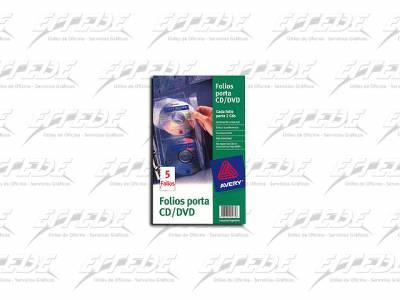 FOLIO AVERY PORTA CD/DVD PQ X 5
