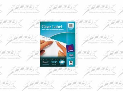 SEPARADOR CART AVERY INDEX MAKER 1-8 CA