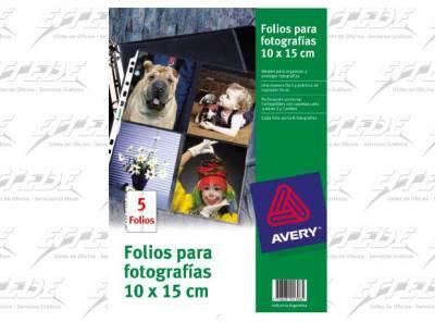 FOLIO AVERY PORTA FOTO 10 X 15 PQ X 5