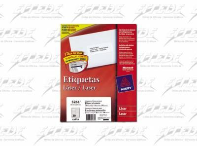ETIQUETA AVERY  CA 25P CORREO 25X10