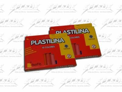 PLASTILINA ISOFIT 10 BARRITAS SURT